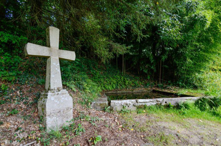 La fontaine de la chapelle Sainte Hélène à Bubry