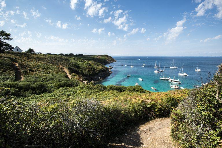 Vue sur les côtes de l'Ile de Groix