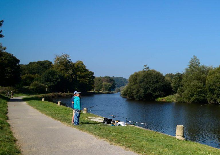 Promenade au bord de la rivière le Blavet, Pont-Augan, Quistinic