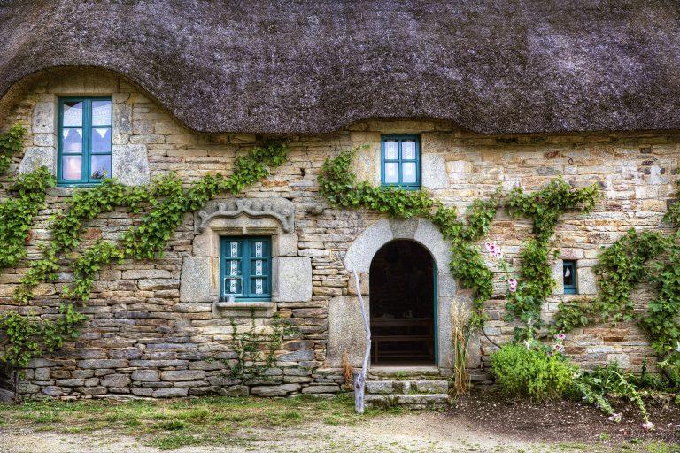 Façade d'habitation du village de Poul Fetan, Quistinic