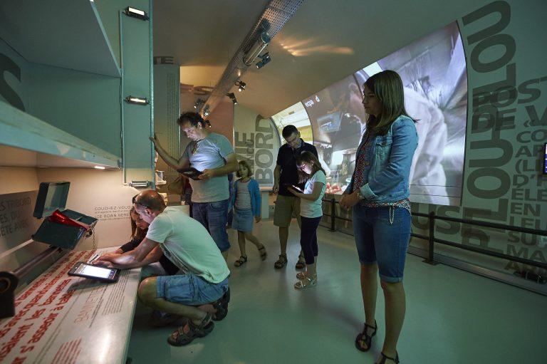 Visite de la muséographie du sous-marin Flore à Lorient La Base.