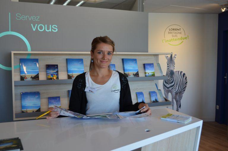 Bienvenue à l'accueil de l'office de tourisme de Lorient Bretagne Sud.