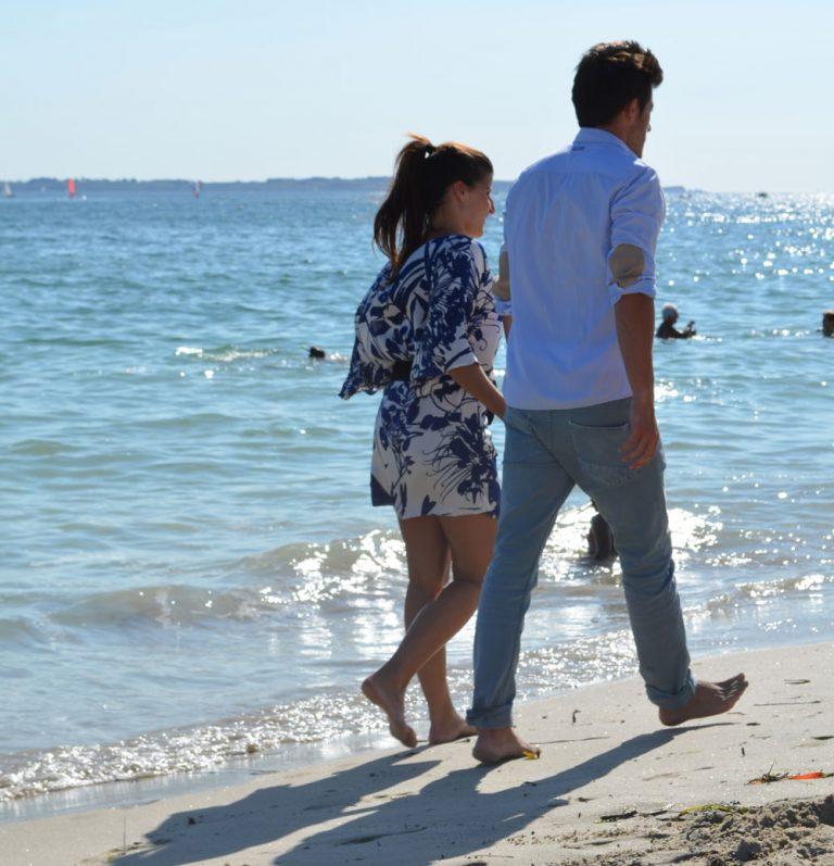 Balade en amoureux sur les plages de Lorient
