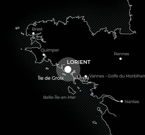 carte localisation lorient en bretagne