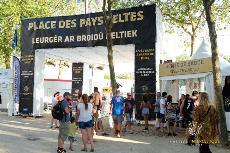 L'entrée de la Place des Pays Celtes au Festival Interceltique de Lorient.