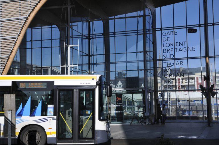 La gare SNCF à Lorient.