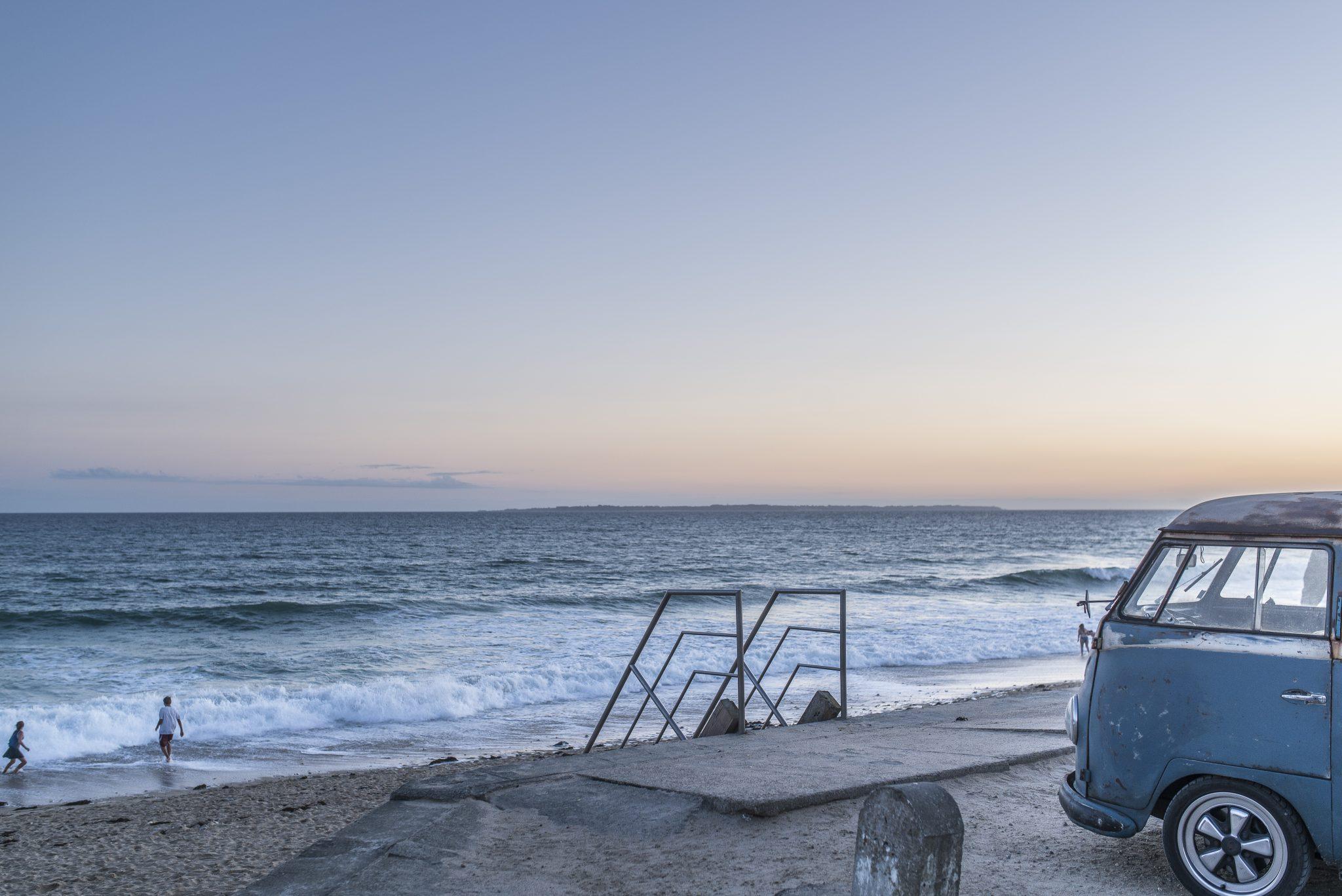 Gâvres, Combi sur la grande plage