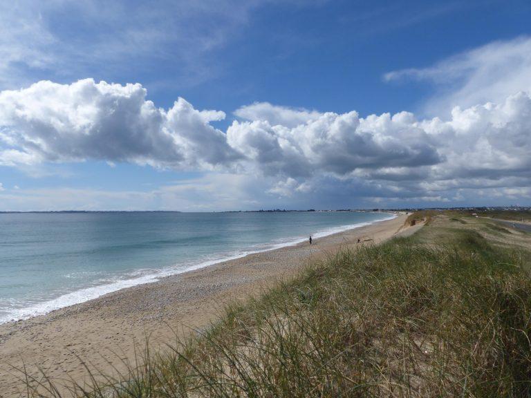 Gâvres, Tombolo et grande plage