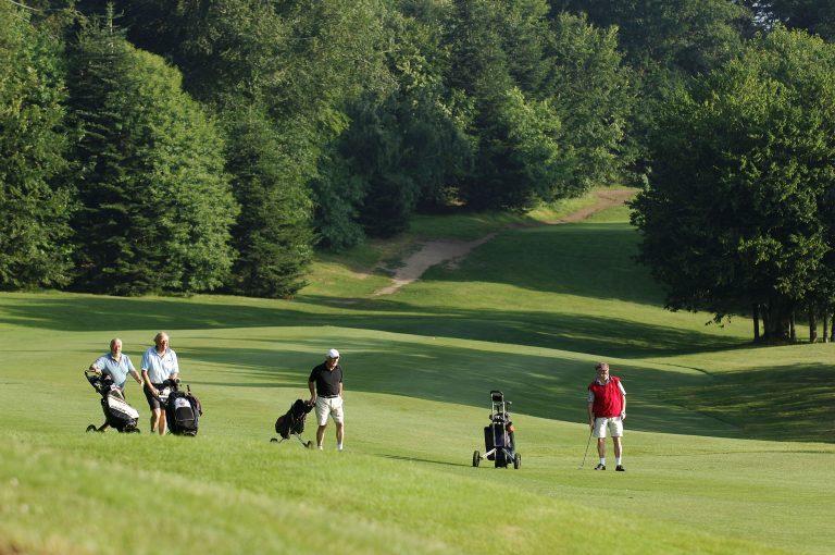 Groupe de golfeurs au golf de Quéven