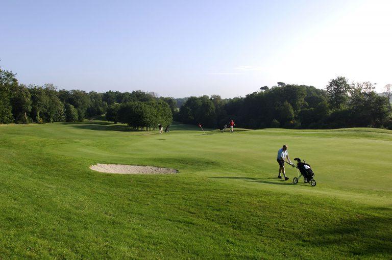 Golfeur au golf de Quéven