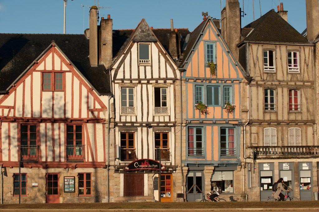 Maisons à colombage de la rue du Port à Vannes.