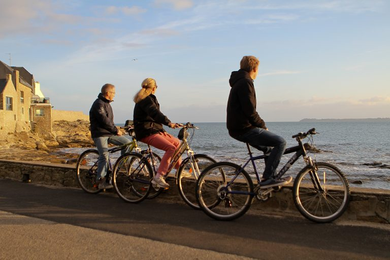 Lomener, sentier côtier à vélo