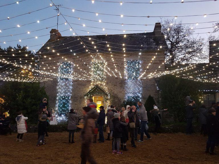 Illuminations au marché de Noël de Ploemeur