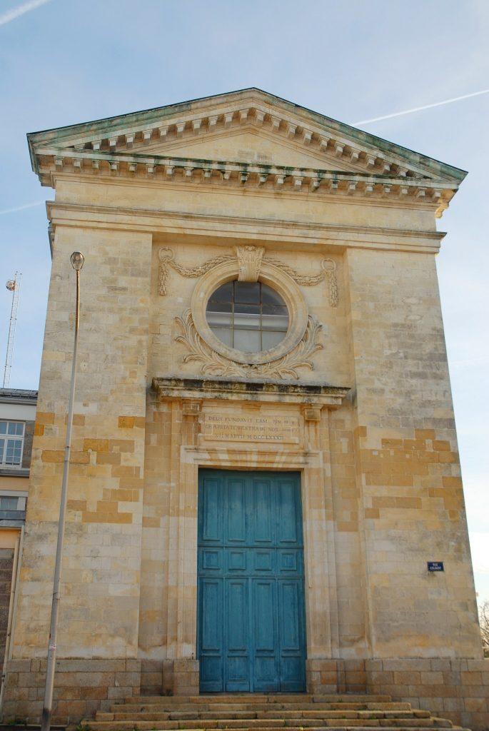 Lorient, l'hôtel Dieu de l'ancien hôpital de Lorient près de la Cité Allendé.