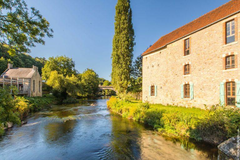 Vieille battisse le long du Scorff près du Moulin des Princes à Pont-Scorff