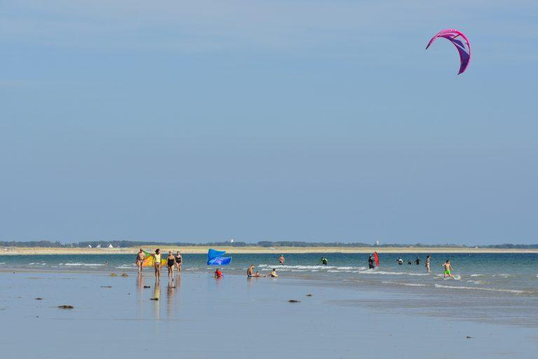 la grande plage à Gâvres