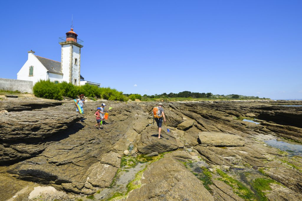 Pêche à pied en famille à la Pointe des Chats - Ile de Groix.