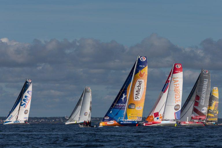 Lorient, bateaux de course Imoca lors du Défi Azimut