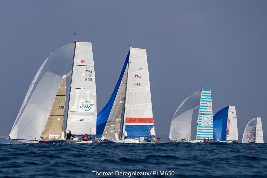 Lorient, voiliers lors de la course la Plastimo