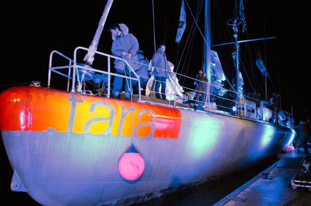 Lorient, retour du bateau Tara à Lorient.