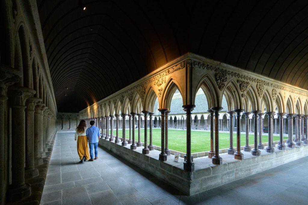 Intérieur de l'Abbaye du Mont Saint-Michel