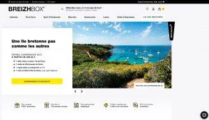 La nouvelle page d'accueil du site web Breizhbox®