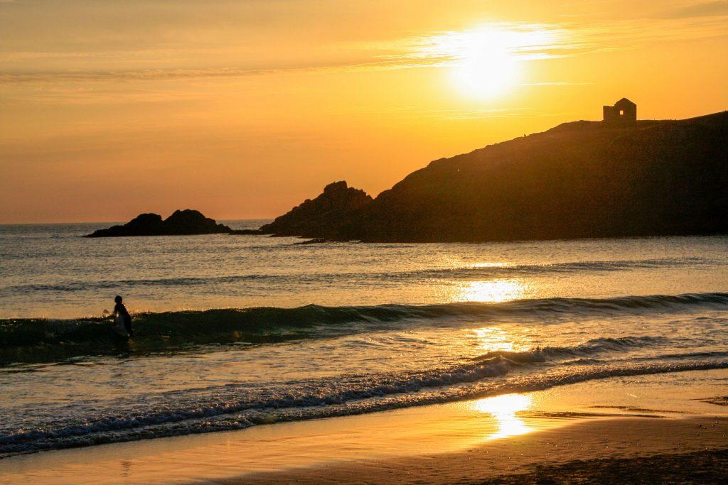 Coucher de soleil sur la côte sauvage de Quiberon