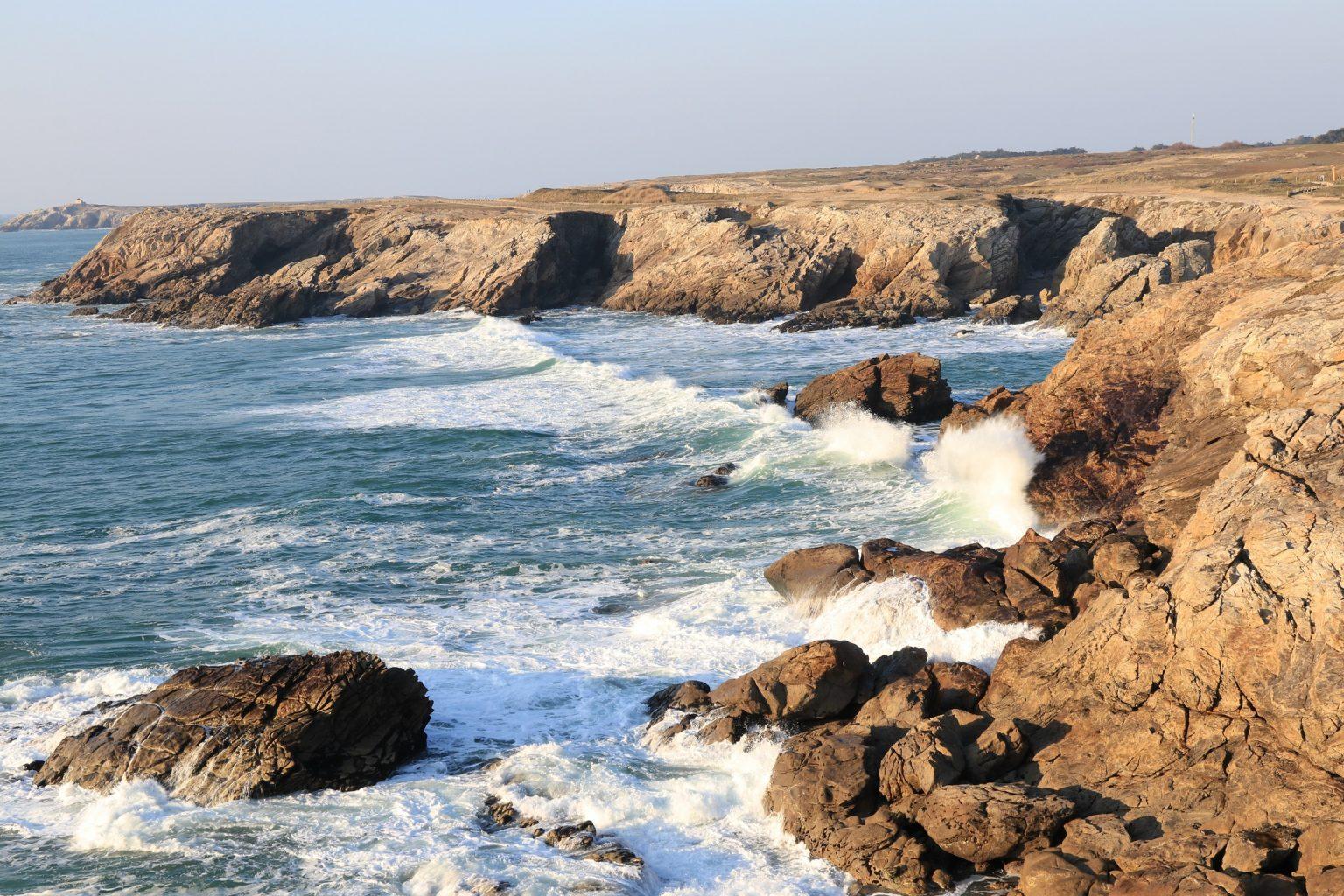 La côte sauvage de la presqu'île de Quiberon.