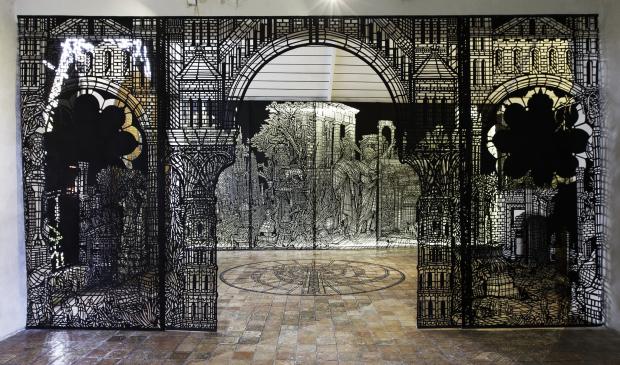 Pont-Scorff, exposition Monkey Birds à l'Atelier d'Estienne.