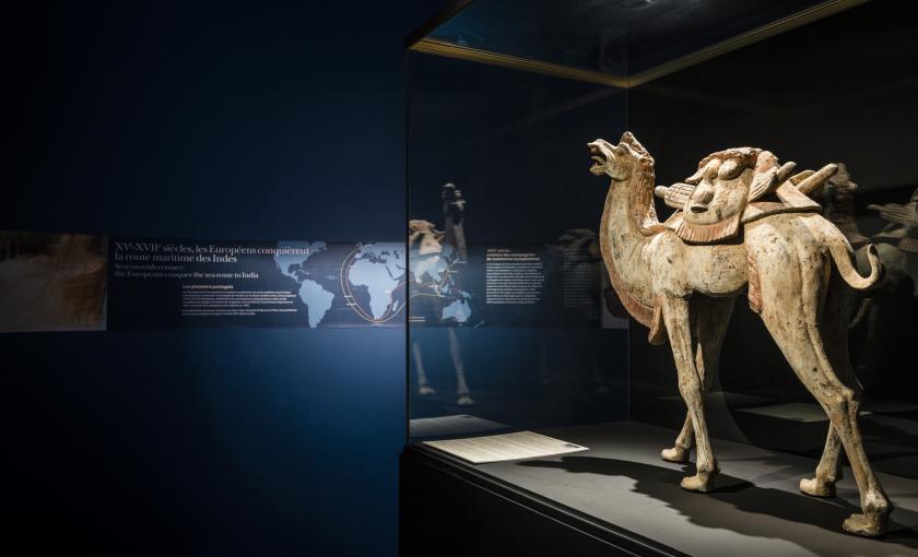Statuette de chameau au Musée de la Compagnie des Indes à Port-Louis
