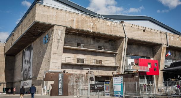 Le musée du sous-marin La Fore dans une alvéole du bloc K2 à Lorient La Base.