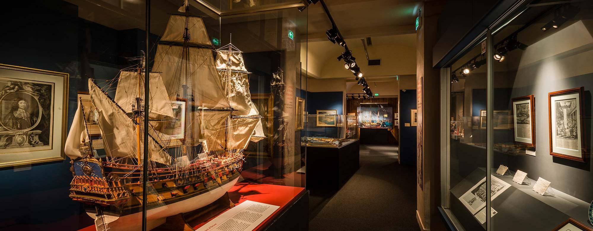 Maquette de bateau au musée de la Compagnie des Indes à la Citadelle de Port-Louis