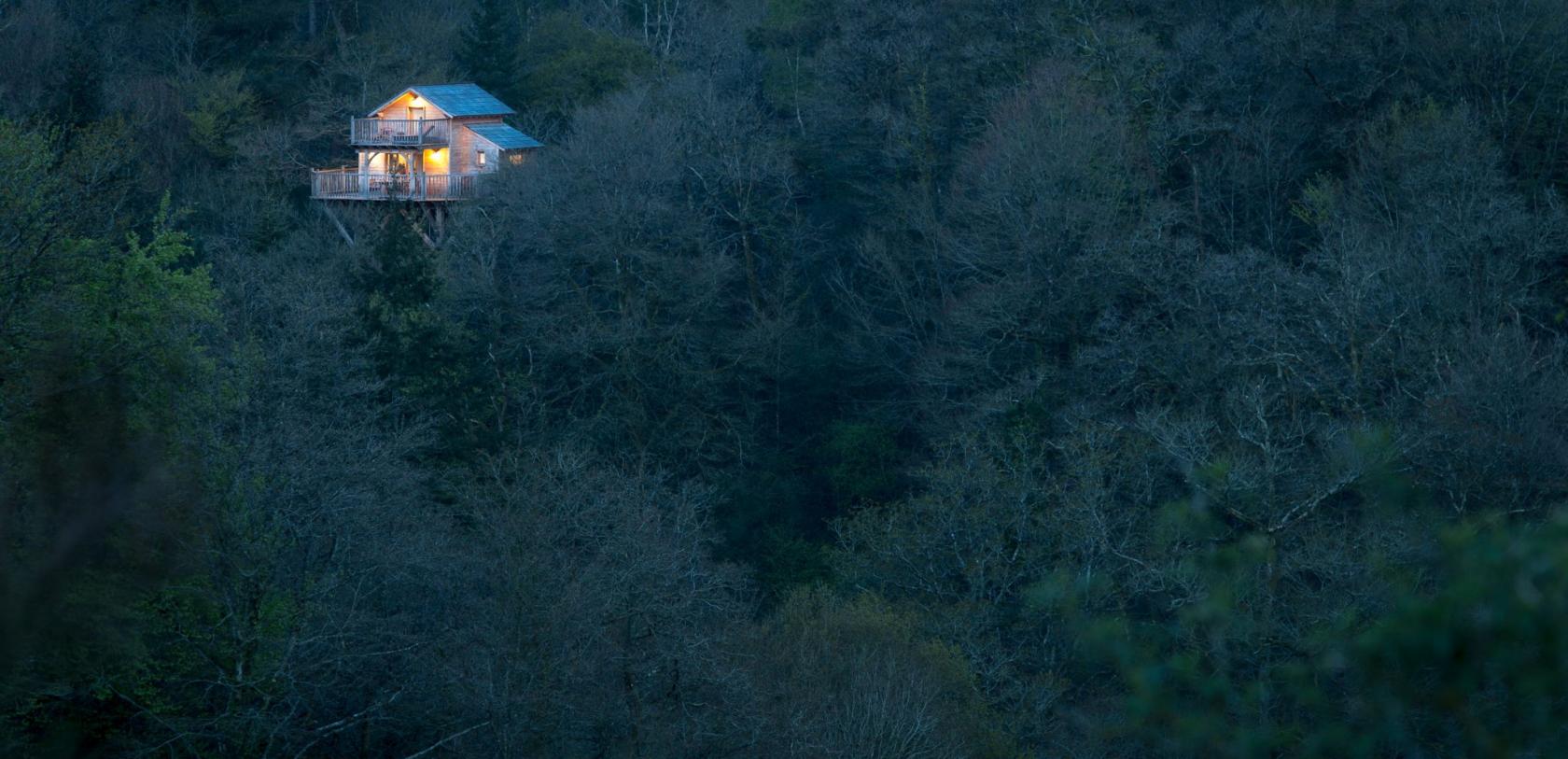 Quistinic, cabane perchée dans les arbres