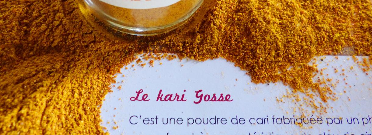 Le kari Gosse, un mélange d'épices typiquement lorientais, datant du commerce avec la Compagnie des Indes.