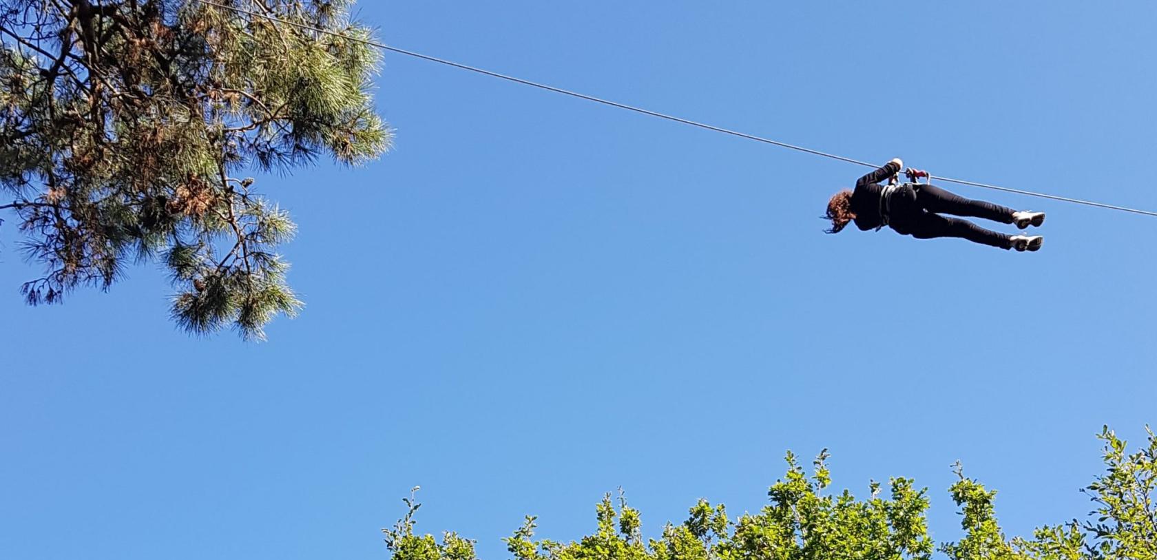tyrolienne - accrobranche à Ploemeur - Le Poisson Volant