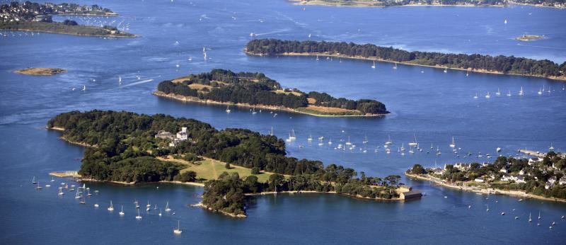 L'île de Berder dans le Golfe du Morbihan.