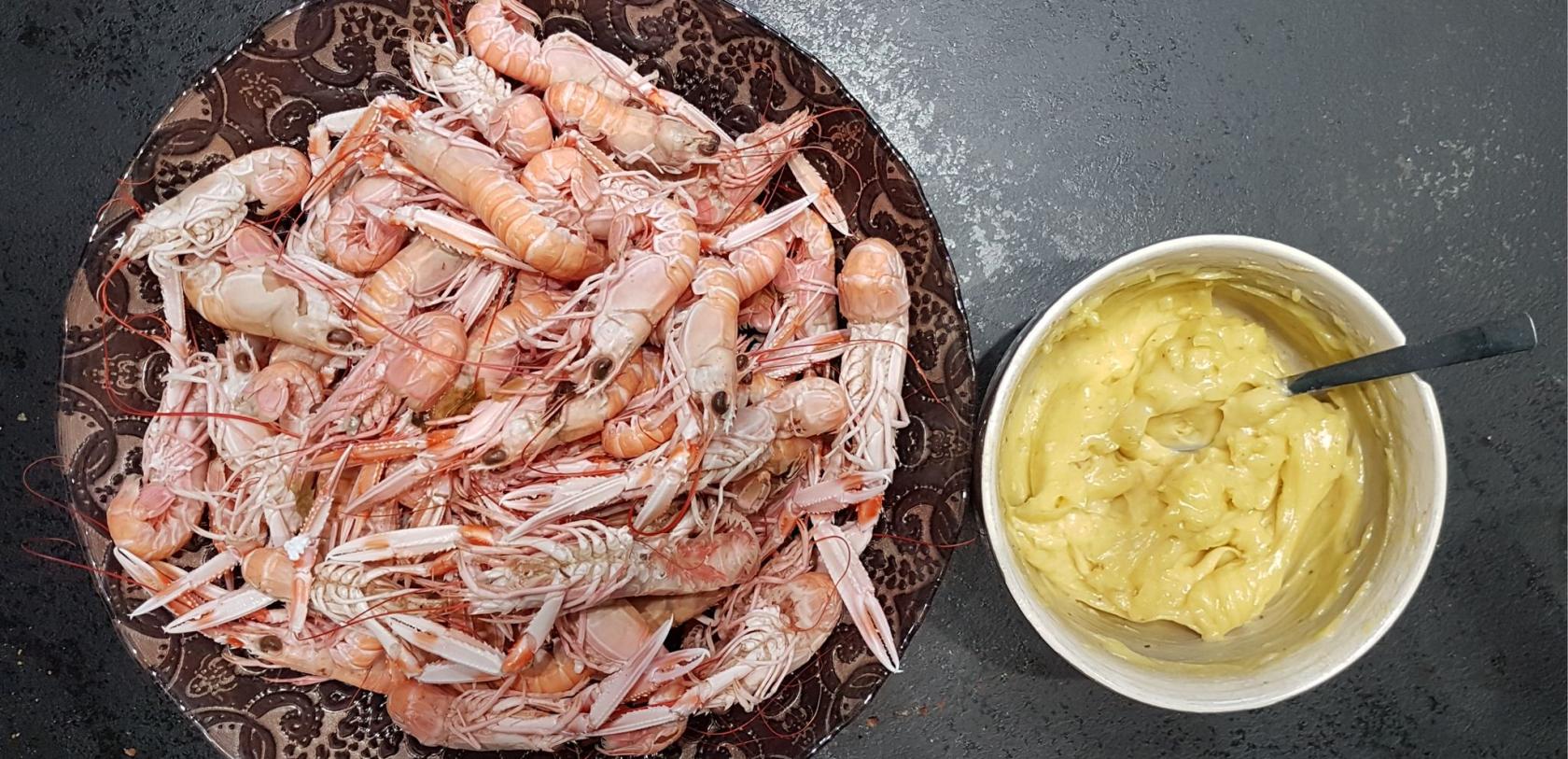 Langoustines et mayonnaise maison