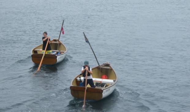 bateaux à la godille, ile de Groix