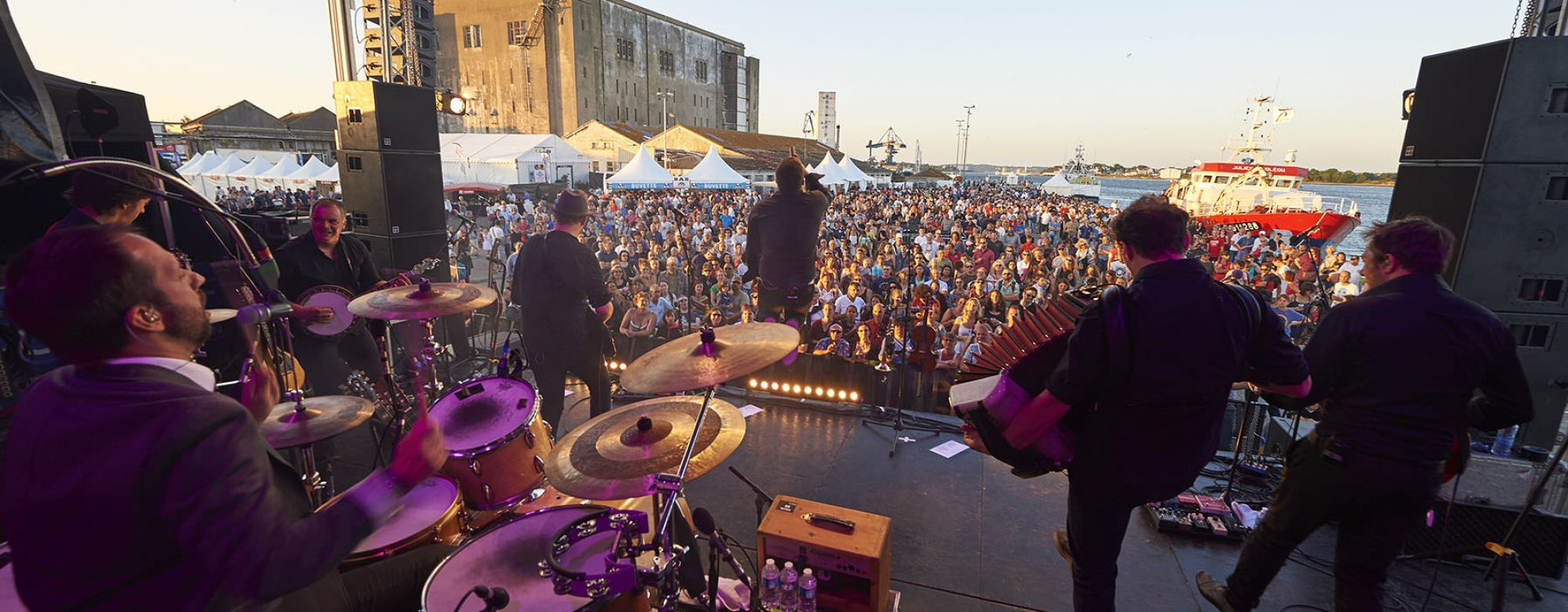 Concert à Lorient La Base lors de Ports en fête