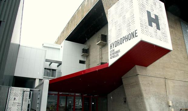 Facade d'Hydrophone, nouvelle salle des musiques actuelles à Lorient La Base