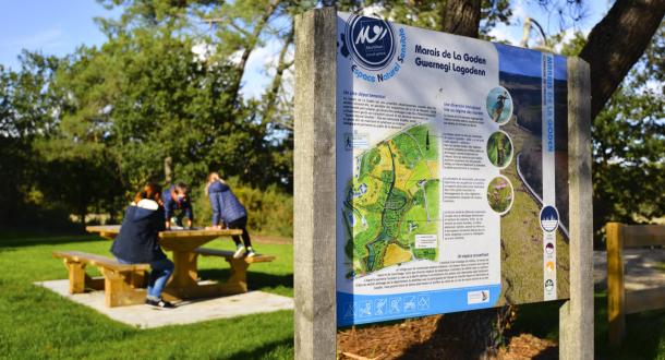 Plan du Marais de la Goden à Lanester