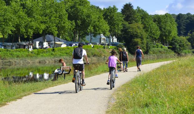 Lorient Bretagne Sud, balade en vélo sur les chemins de halage de la rivière du Blavet