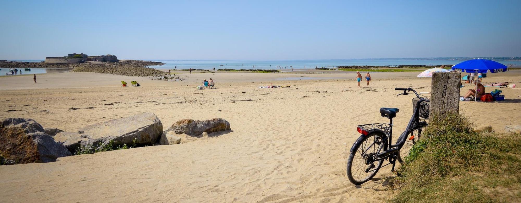 Je suis allée en vélo à plage du Fort-Bloqué par la voie verte - Ploemeur