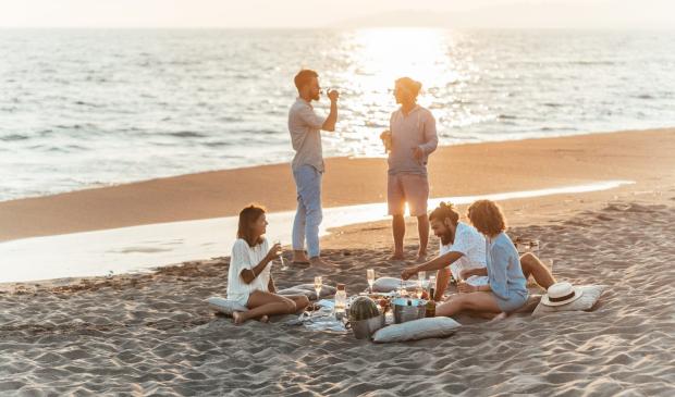 Pique-nique en famille à plage