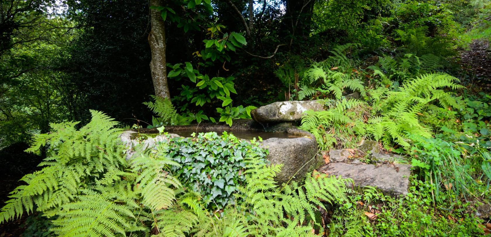 La fontaine trou au loup, Poblei Ardran, à Quistinic