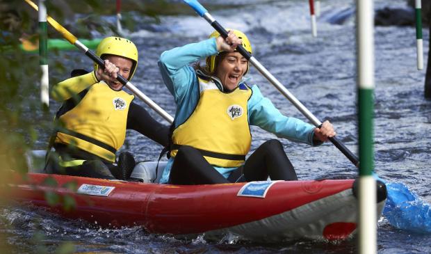 Fun en kayak au Parc d'eau vive à Inzinzac-Lochrist