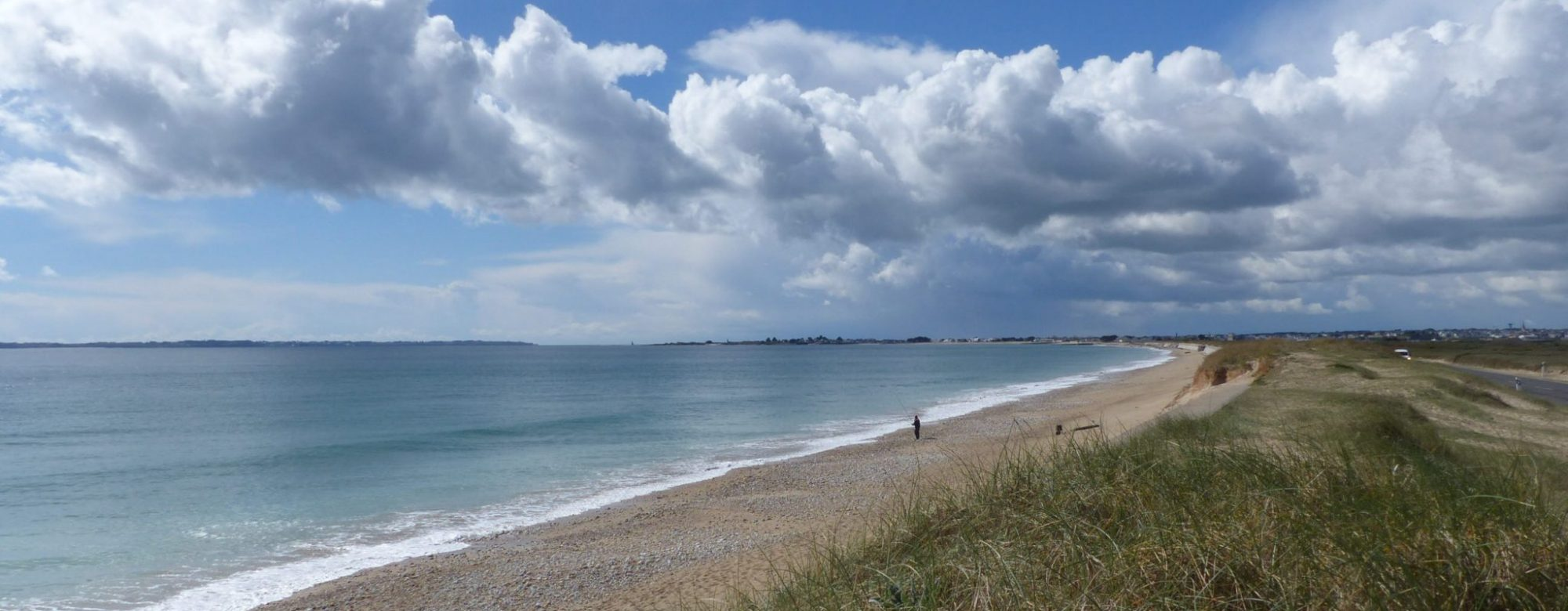 Grande plage et tombolo de Gâvres.