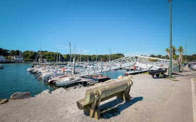 Le port de plaisance de Guidel-Plages.