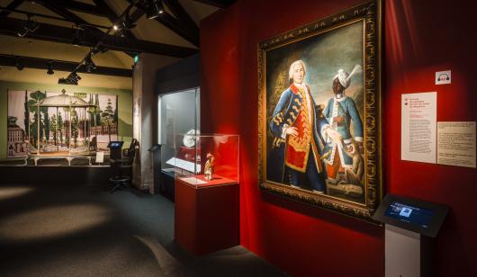 Intérieur du Musée de la Compagnie des Indes à Port-Louis.