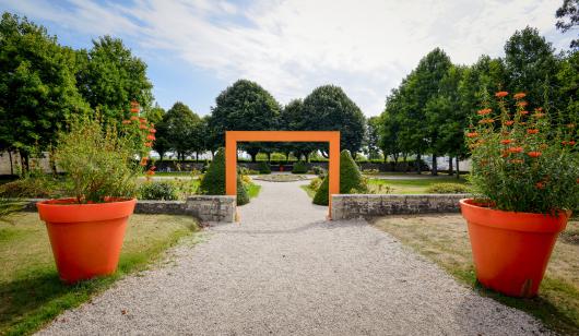 Les jardins de l'Hôtel Gabriel - Enclos du Port - Péristyle - Lorient